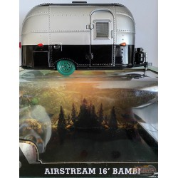 Airstream 16 Bambi Sport - Silver and Black  Greenlight 1/24 18226