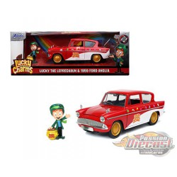 1959 Ford Anglia - Lucky Charms  with Lucky The Peprechaun -  Jada 1/24 - 32200 -  Passion Diecast