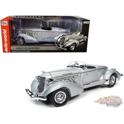 1935 Auburn 851 Speedster Haze Gray  - 1/18 Auto World  AWS268 -  Passion Diecast
