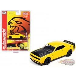 2019 Dodge Challenger SRT Hellcat Redeye - Yellow   Mijo Exclusive - Auto World 1/64 - CP7722 -  Passion Diecast