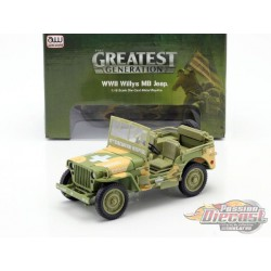 1941 Willys MB Jeep US Army Medic Camo -  Autoworld -1-18 -  AWML005 A - Passion Diecast