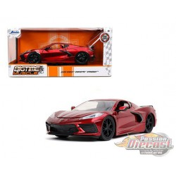 2020 Chevy Corvette C8 Stingray Red  -  Jada 1/24- Big Time muscle  - 32538 RD - Passion Diecast