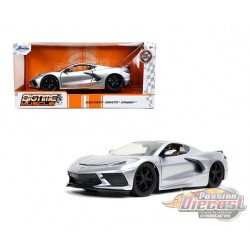 2020 Chevy Corvette C8 Stingray Silver -  Jada 1/24- Big Time muscle  - 32539 SIL - Passion Diecast
