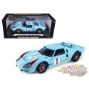 1966 Ford GT 40 MKII Gulf n°1 Blue-  Shelby Collectibles 1/18 - 411 BL