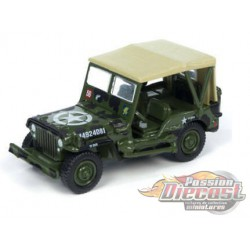 Jeep Willys M38A1C - Allied Victory - Wheeled Warriors  - Johnny Lightning - 1:64 - JLCP7064   - Passion Diecast