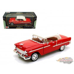 1955 Chevrolet Bel Air Convertible Soft Top Red  - Motormax 1/18 -   73184 RD - Passion Diecast