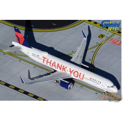 """Delta Air Lines Airbus A321 """"Thank You"""" N391DN - Gemini Jets 1/400 - GJDAL1927 - Passion diecast"""