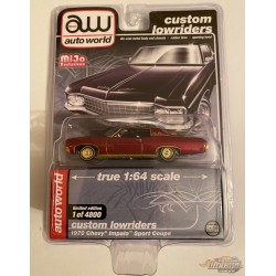 1970 Chevy Impala SS  metallic - Lowriders - CHASE CAR ULTRA RED Auto World 1/64 MiJo Exclusives - CP7667GR