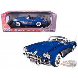 1958 Chevrolet Corvette Convertible  Blue - Motormax 1/18 -  73109 BL
