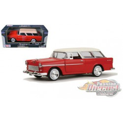 1955 Chevrolet  Bel Air   Red   - Motormax 1/24 - 73248 RD  -  Passion Diecast