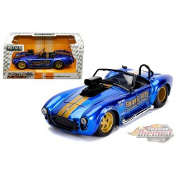"""1965 Shelby Cobra 427 S/C with Blower Candy Blue   """"Bigtime Muscle"""" - Jada 1/24 - 30706  - Passion Diecast"""