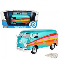 Volkswagen Type 2 T1 Delivery Van  Pace Turquoise  -  Motormax 1-24 - 79583  - Passion Diecast