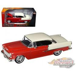 1955 Chevrolet Bel Air Red -Showroom Floor -  Jada 1/24 - 98887 - Passion Diecast