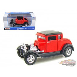 1929 Ford Model A Red -  Motormax 1/24 - 31201 RD - Passion Diecast