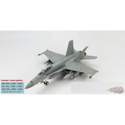 McDonnell Douglas F/A-18C Hornet Swiss Air Force - Switzerland - With decal Sheet - Hobby Master 1/72 HA3532B - Passion Diecast