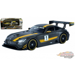 Mercedes Benz GT3 Racing No1 Grey - Motormax 1/24 - 73784  - Passion Diecast