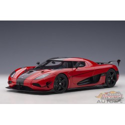Koenigsegg Agera RS - Chilli Red / Carbon with Black Accents - Autoart 1/18 - 79022 - Passion Diecast