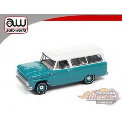 1965 Chevrolet Suburban Orange/White   - Auto World 1:64  - AWSP060 A -  Passion Diecast