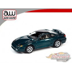 1992 Dodge Stealth T/T Twins Turbo  Emerald Green  - Auto World 1:64  - AWSP063 B -  Passion Diecast