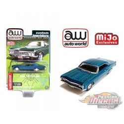 1966 Chevy Impala SS Metallic Green - Lowriders - Auto World 1/64 MiJo Exclusives - CP7740 - Passion Diecast