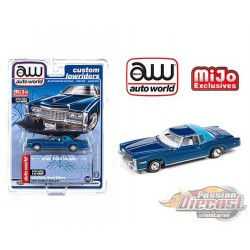 1975 Cadillac Eldorado Blue - Lowriders - Auto World 1/64 MiJo Exclusives - CP7720 - Passion Diecast