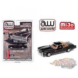 1975 Cadillac Eldorado Black - Lowriders - Auto World 1/64 MiJo Exclusives - CP7719 - Passion Diecast