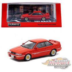 Toyota Corolla Levin (AE92) - Red - Tarmac Works  1/64 - T64R-036 RD - Passion Diecast