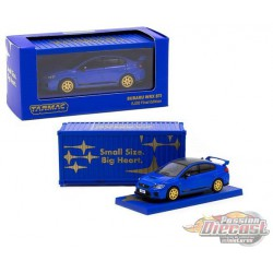 Subaru WRX STI EJ20 Final Edition with Container - Blue - Tarmac Works  1/64 - T64-016-FE  - Passion Diecast