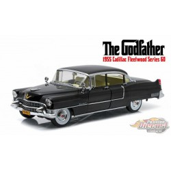 1955 Cadillac Fleetwood Series 60  Black - The Godfather - Greenlight 1/18 - 12949 - Passion Diecast