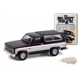 1981 Chevrolet K5 Blazer The Big Shift For 81 -Vintage Ad Cars Series 4  - 1-64 Greenlight - 39060 E  - Passion Diecast