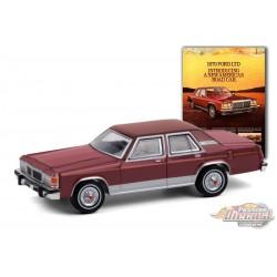 "1979 Ford LTD Sedan ""Introducing A New American Road Car"" -Vintage Ad Cars Series 4  - 1-64 Greenlight - 39060 D"
