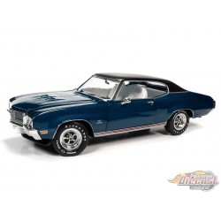1970 Buick GS 455 Stage 1- Hemmings Muscle Machines - Blue- 1/18 Auto World - AMM1242 - Passion Diecast