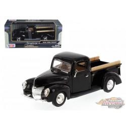 1940 Ford Pick Up  Black - Motormax 1-24 - 73234 BK - Passion Diecast