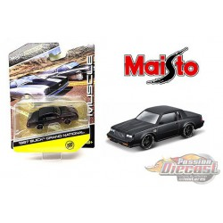 1987 Buick Grand National Mat Black  - Maisto Design Muscle 1/64 - 15494-20G - Passion Diecast