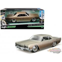 1966 Lincoln Continental Gold - Maisto Design Classics 1/26 - 32531 GLD  - Passion Diecast