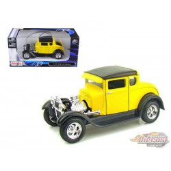 1929 Ford Model A Yellow -  Motormax 1/24 - 31201 YL - Passion Diecast