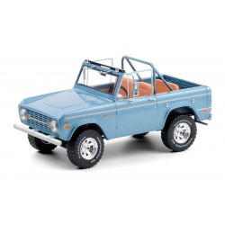 1969 Ford Bronco Sport - Brittany Blue with Sunraysia Wheels 1/18  Greenlight - 19099