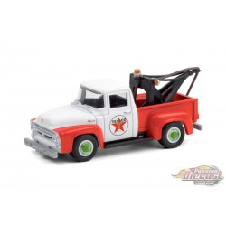1956 Ford F-100 Tow Truck - Texaco Filling Station  -  Running on Empty 12 - 1-64 greenlight - 41120 B - Passion Diecast