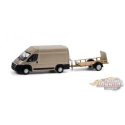 2019 Ram ProMaster 2500 Cargo High Roof and Utility Trailer - Hitch & Tow 21, 1/64 Greenlight - 32210 C