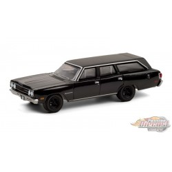 1970 Plymouth Satellite Station Wagon - Black Bandit Series 24   1-64 Greenlight 28050 A - Passion Diecast