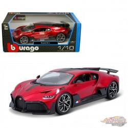 Bugatti DIVO in Red and Black - 1:18 Bburago 18-11045MTRD