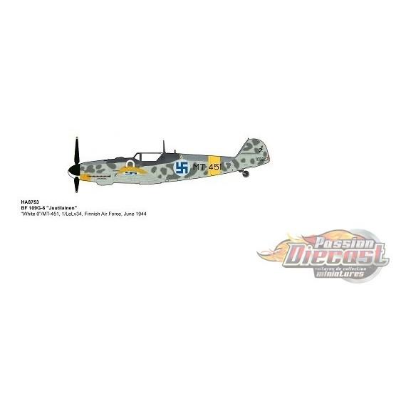 """Messerschmitt Bf 109G-6 / """"Juutilainen"""" """"White 0""""/MT-451, Finnish Air Force, June 1944 Hobby Master 1/48 HA8753 - Passion Diecas"""