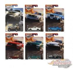 "Matchbox 1:64 Walmart Exclusive Ford Mustang  ""B"" Case   set de 10 Voitures  - GGF12-956B  - Passion Diecast"