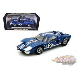 1966 Ford GT 40 MKII  n°2  Blue-  Shelby Collectibles 1/18 - 401  - Passion Diecast