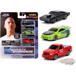 Fast & Furious MV1  set of 3 Hollywood Rides -  Jada Nano - 31123  - Passion Diecast