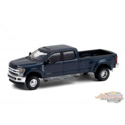 2019 Ford F-350 Dually - Blue Jeans - Dually Drivers  6 - Greenlight 1-64 - 46060 F -  Passion Diecast