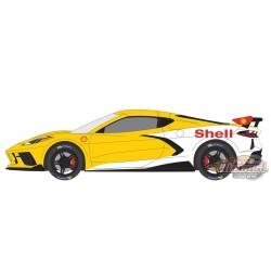 2021 Chevrolet Corvette C8 Stingray Coupe - Shell Oil - Running on Empty 13 - 1/64 Greenlight - 41130 E