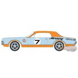 1967 Mercury Cougar XR7 Trans Am Racer - Gulf Racing - Running on Empty 13 - 1/64 Greenlight - 41130 B