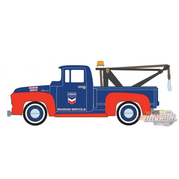 1954 Ford F-100 with Drop-in Tow Hook - Standard Oil Company - Running on Empty 13 - 1/64 Greenlight - 41130 A