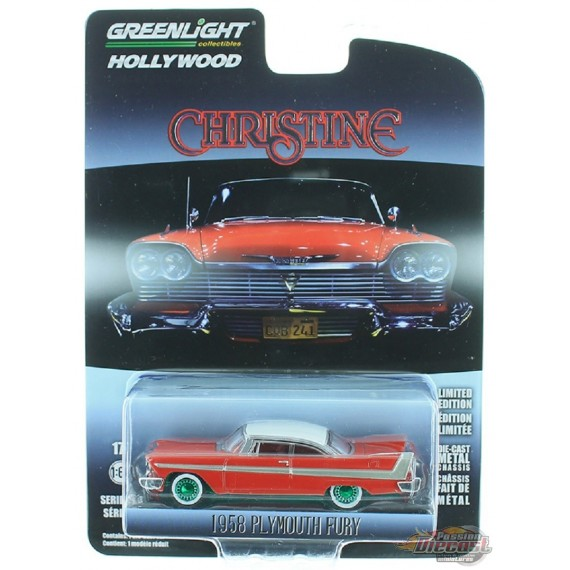 1958 Plymouth Fury - Christine Hollywood Série 23 GREENMACHINE  44830 CGR
